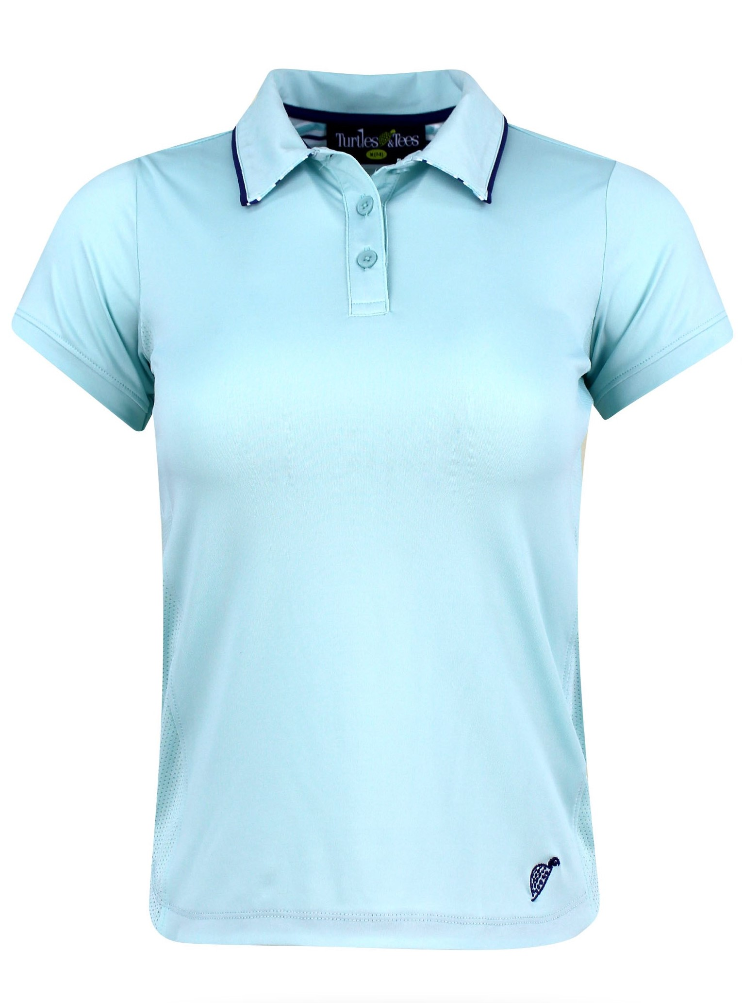 Girl's Cap Sleeve Polo Turquoise
