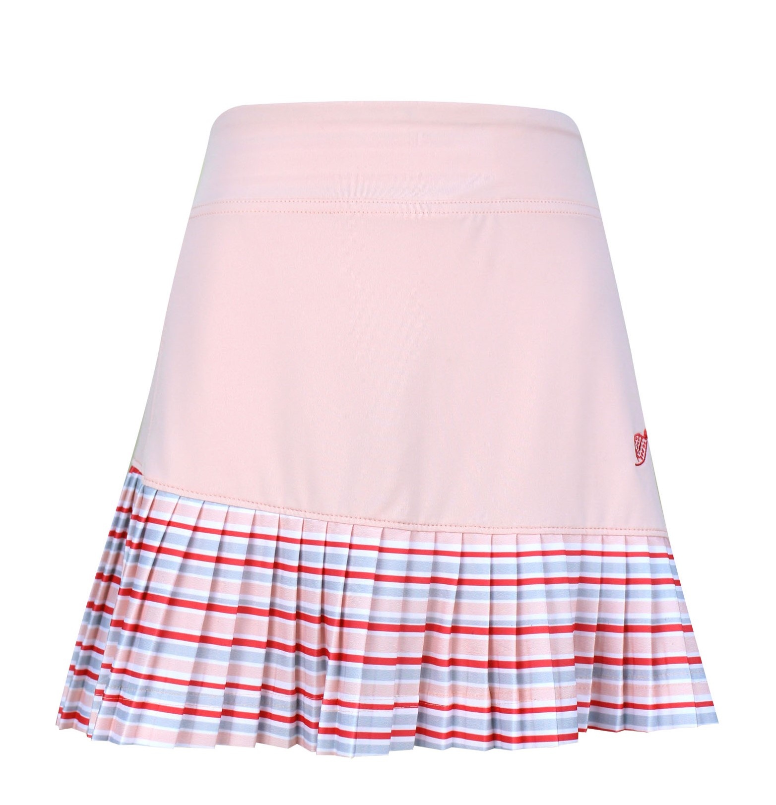 Charlee Accordion Pleat Girl's Golf & Tennis  Skort in Pale Pink Print