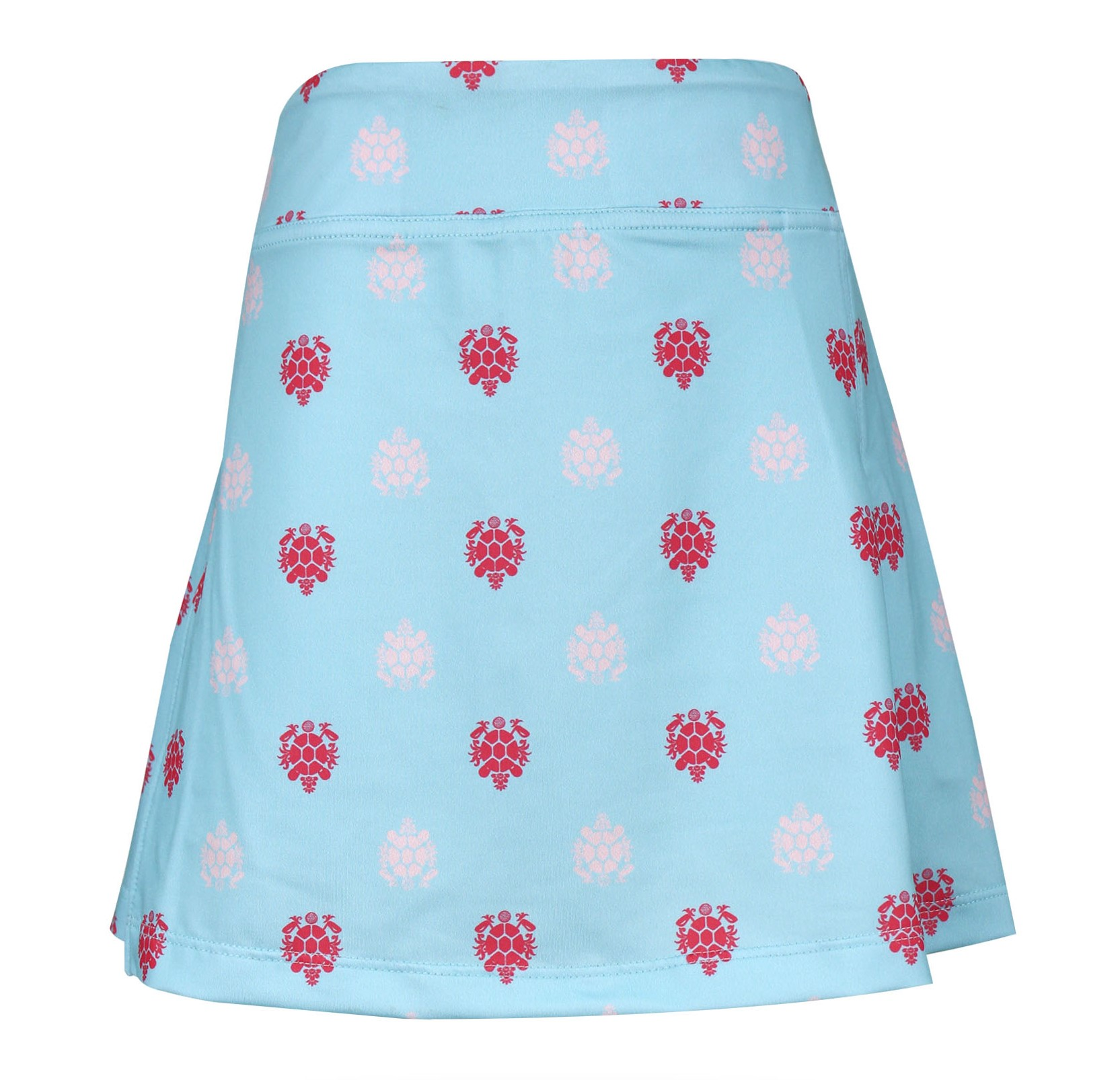 Jules Knit Peekaboo Pleated Girls's Golf & Tennis Skort in Shell De Lis  Print