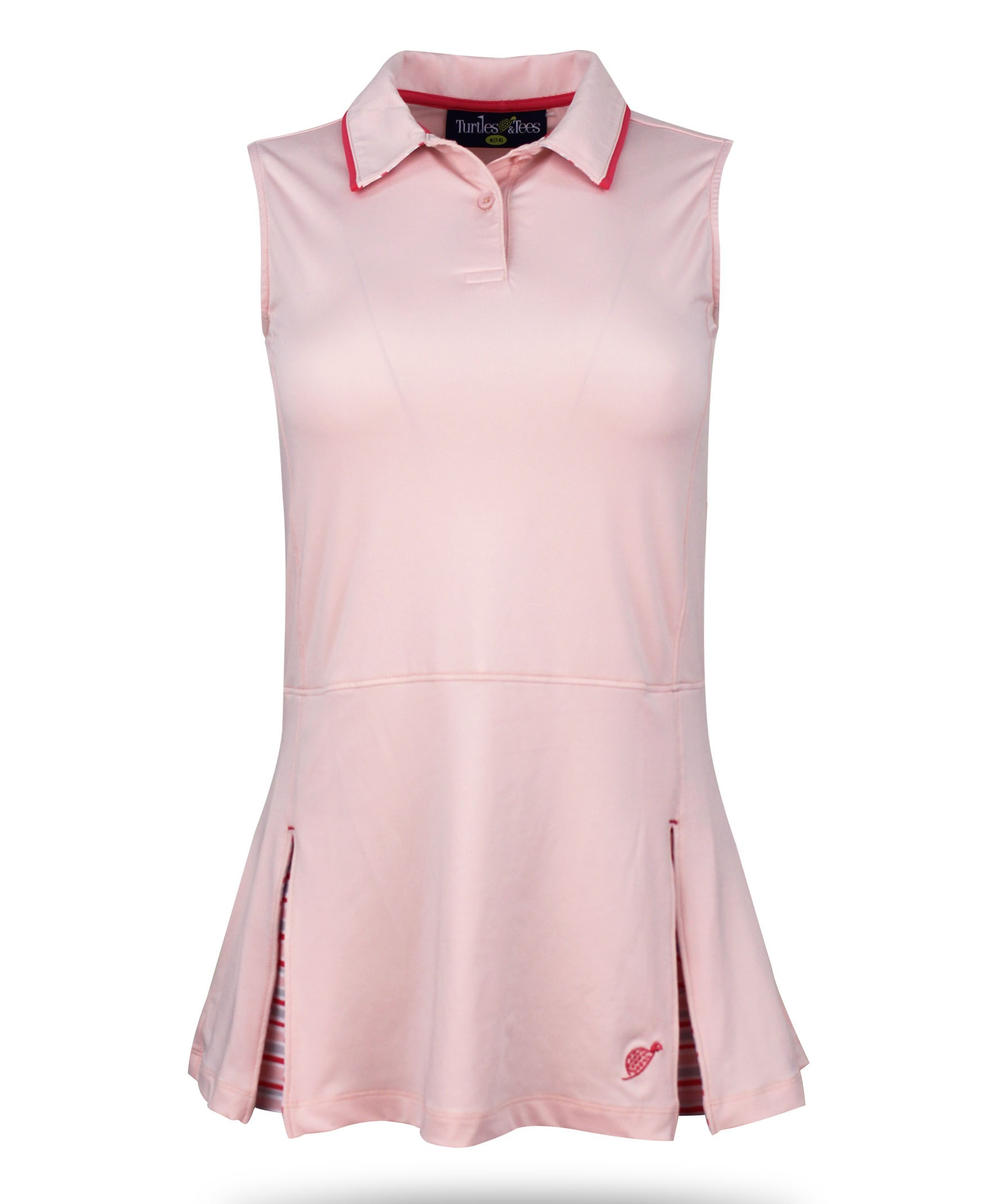 Kate Girl's Golf and Tennis Dress in Pale Pink Print w/Coordinating spandex shorts