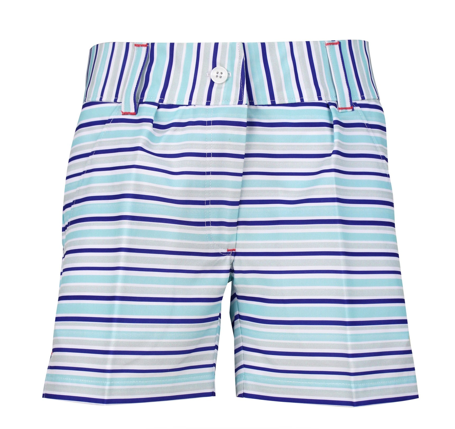 Kira Girls Golf & Tennis Shorts in Blue Stripe