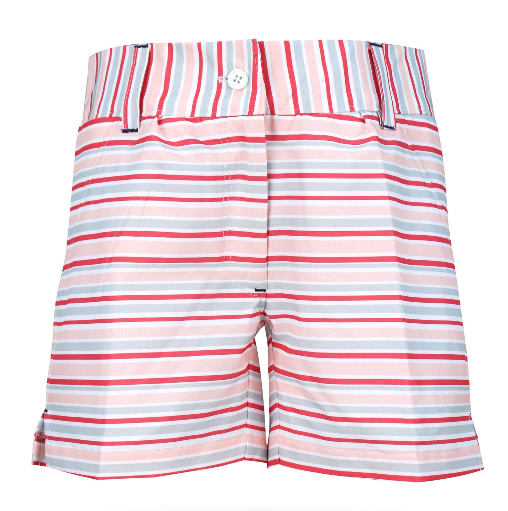 Kira Girls Golf & Tennis Shorts in Pink Stripe
