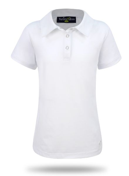Girl's Cap Sleeve Performance Polo in White
