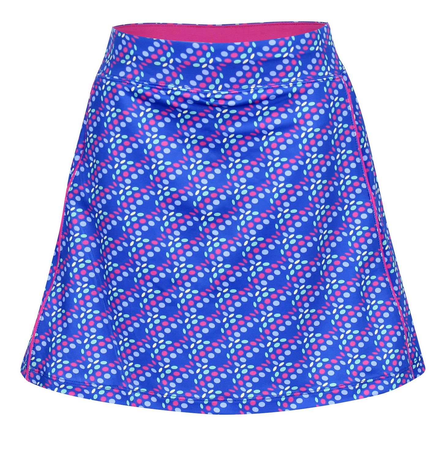 Tara Knit Pull On Skort in Dots In One Print