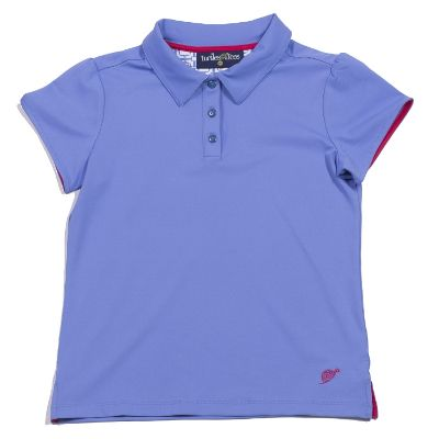Cap Sleeve Polo Periwinkle/Periwinkle Tee's Squared