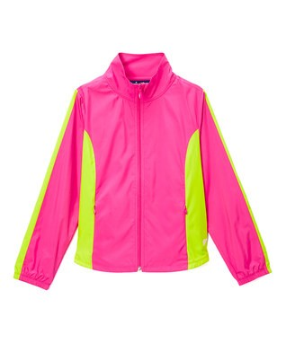 Windbreaker Pink and Lime Shell with Pink T's Squared Lining