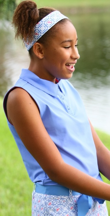 Sleeveless Polo Periwinkle/Periwinkle Tee's Squared