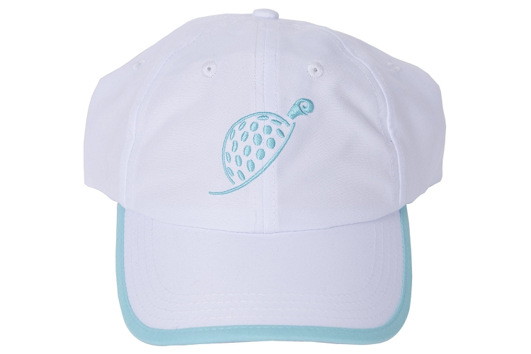 White Turtle Cap with Tee's Squared Print