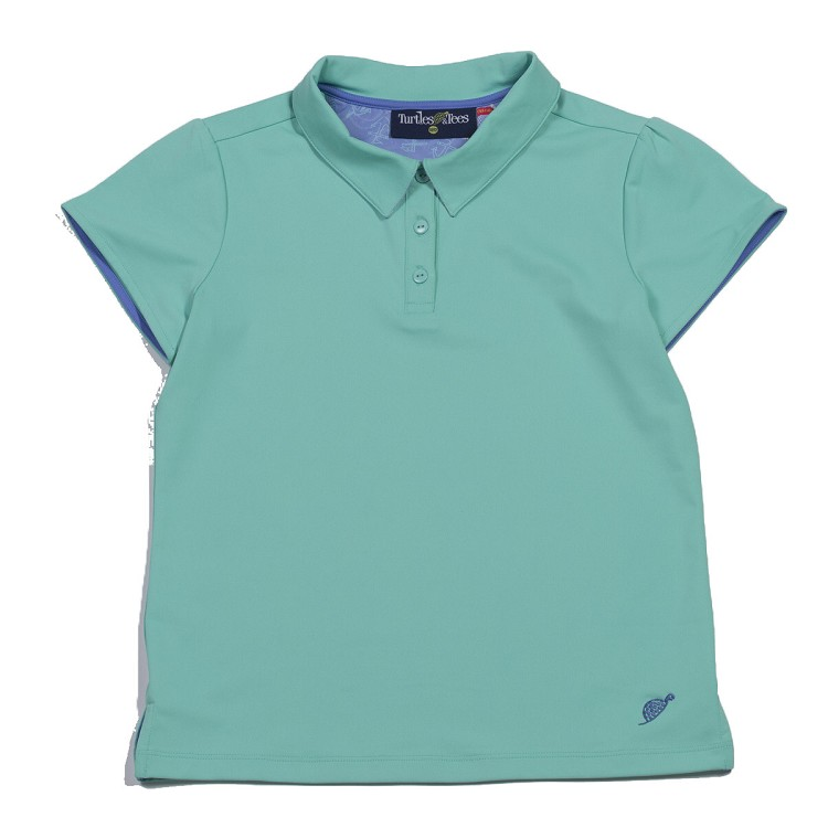Cap Sleeve Polo Seafoam/All Knotted Up