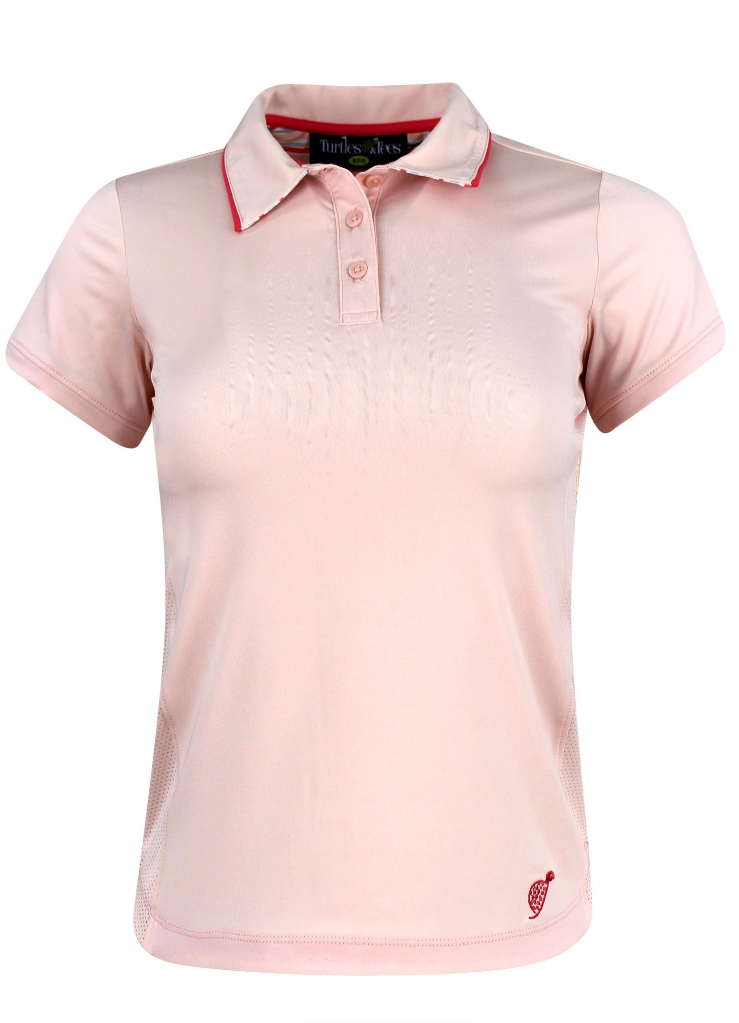 Girl's Cap Sleeve Polo in Pale Pink