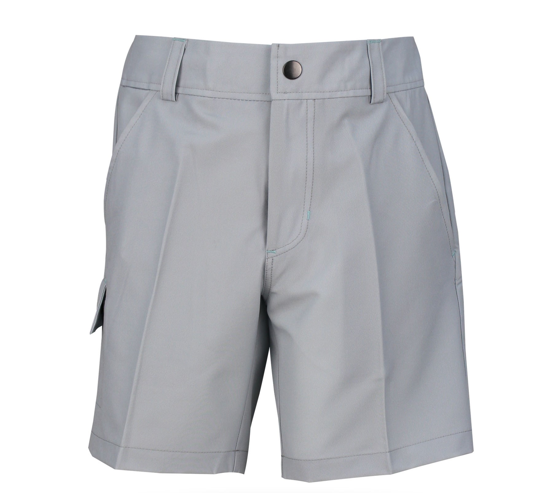 Conor Boy's Golf & Tennis Cargo Shorts in Solid Grey