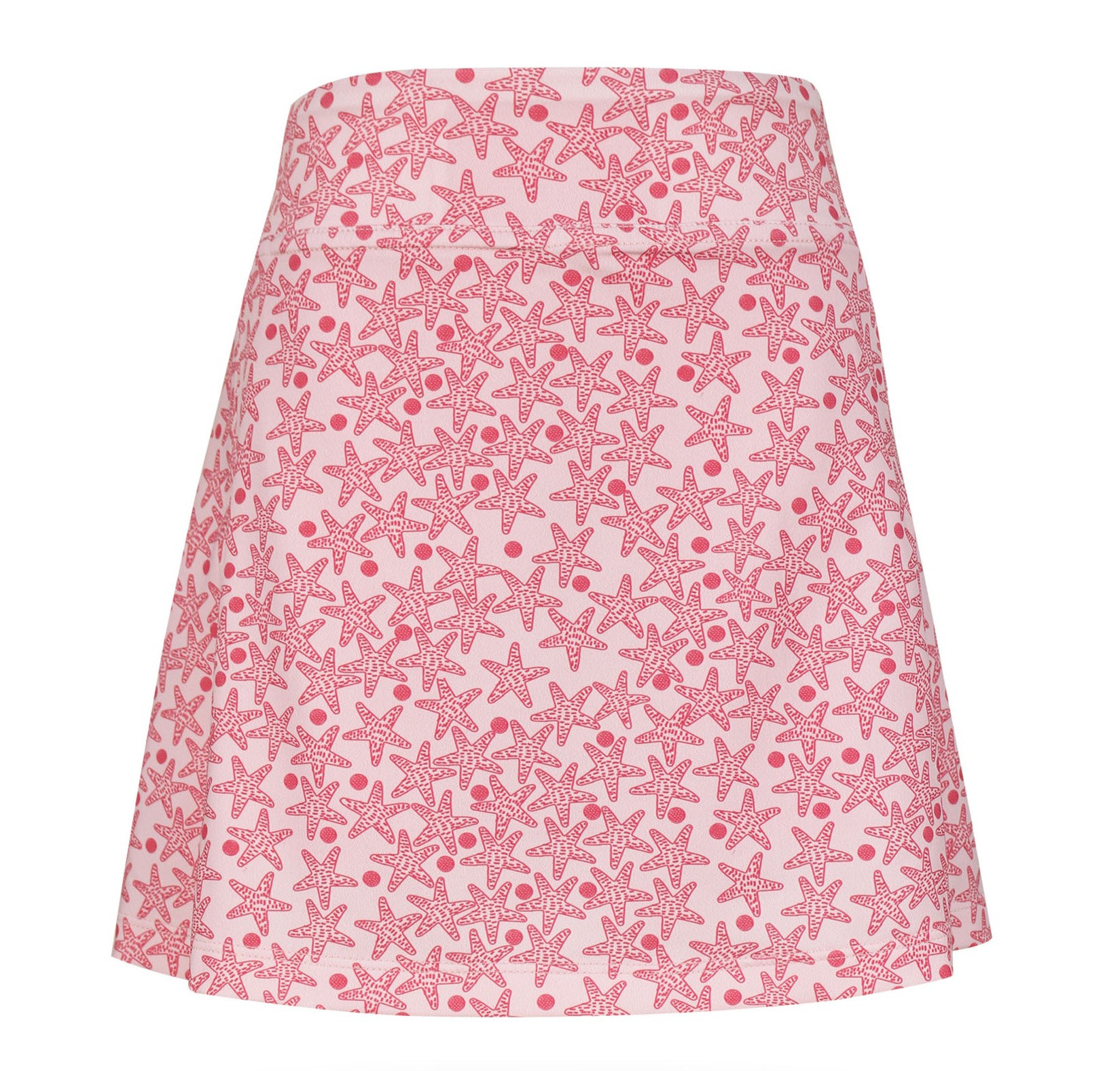 Jules Knit Peekaboo Pleated Girls's Golf & Tennis Skort in StarsInTheRough Print