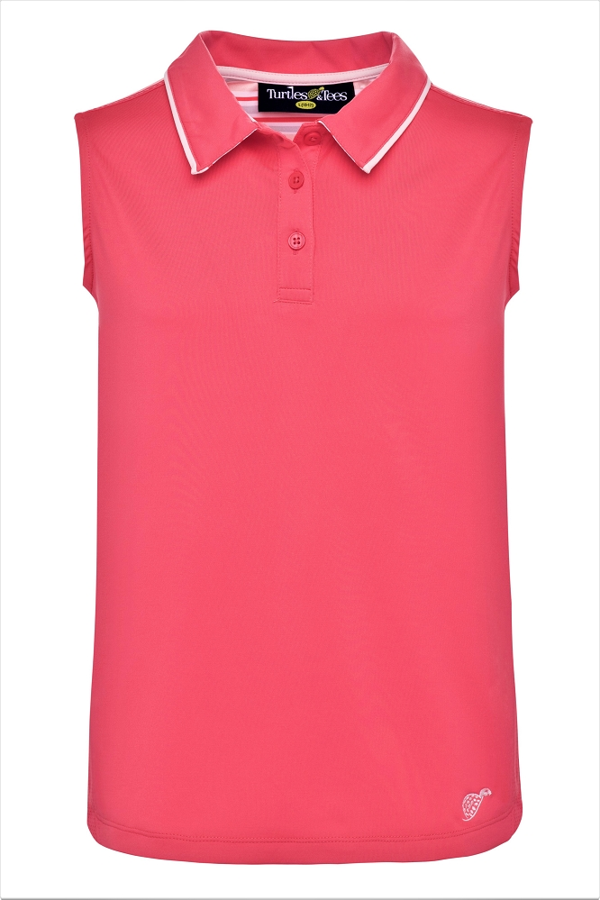 Girl's Sleeveless Polo Watermelon