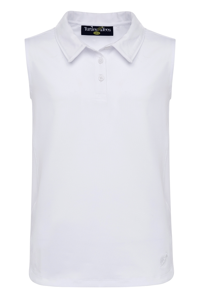 Girl's Sleeveless Polo White