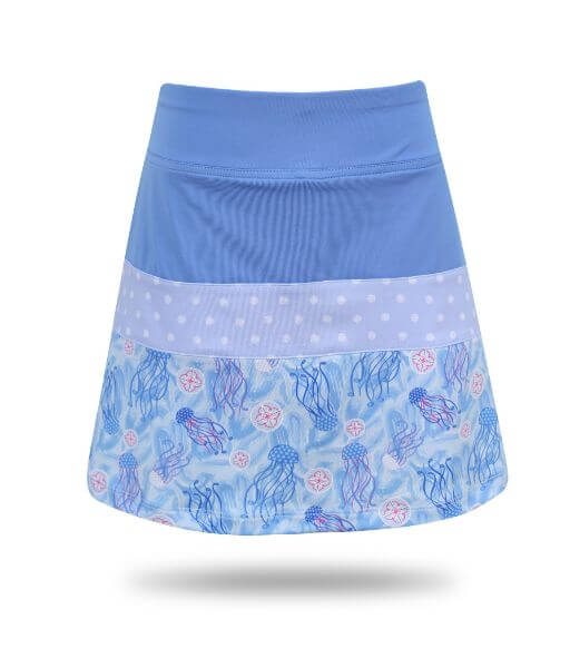 Ayla Colorblock  Girl's Golf & Tennis  Skort in Blue Jammin on Par Print
