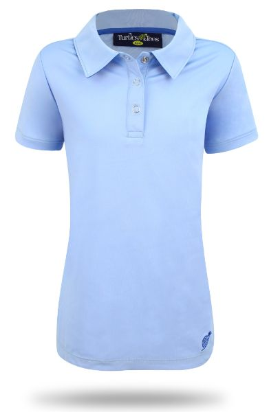 Girl's Cap Sleeve Performance Polo PowderBlue