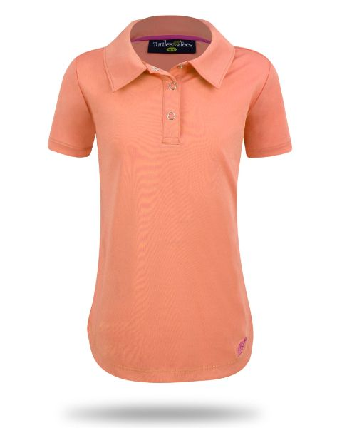 Girl's Cap Sleeve Performance Polo Melon