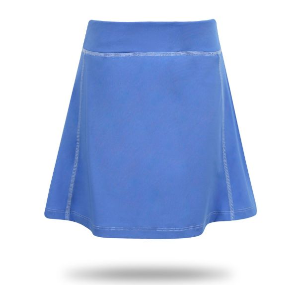 Josie Knit Pleated Back Girls's Golf & Tennis Skort in Blue/Blue Links