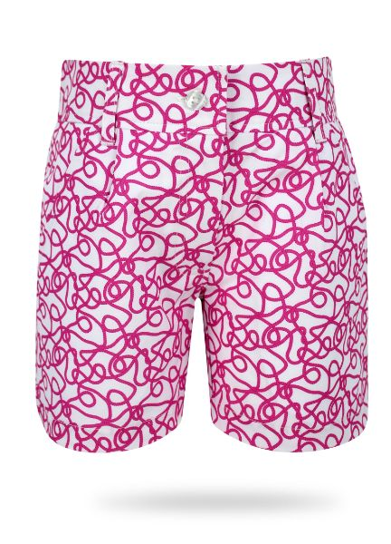 Kira Girls Golf & Tennis Shorts in Pink Links