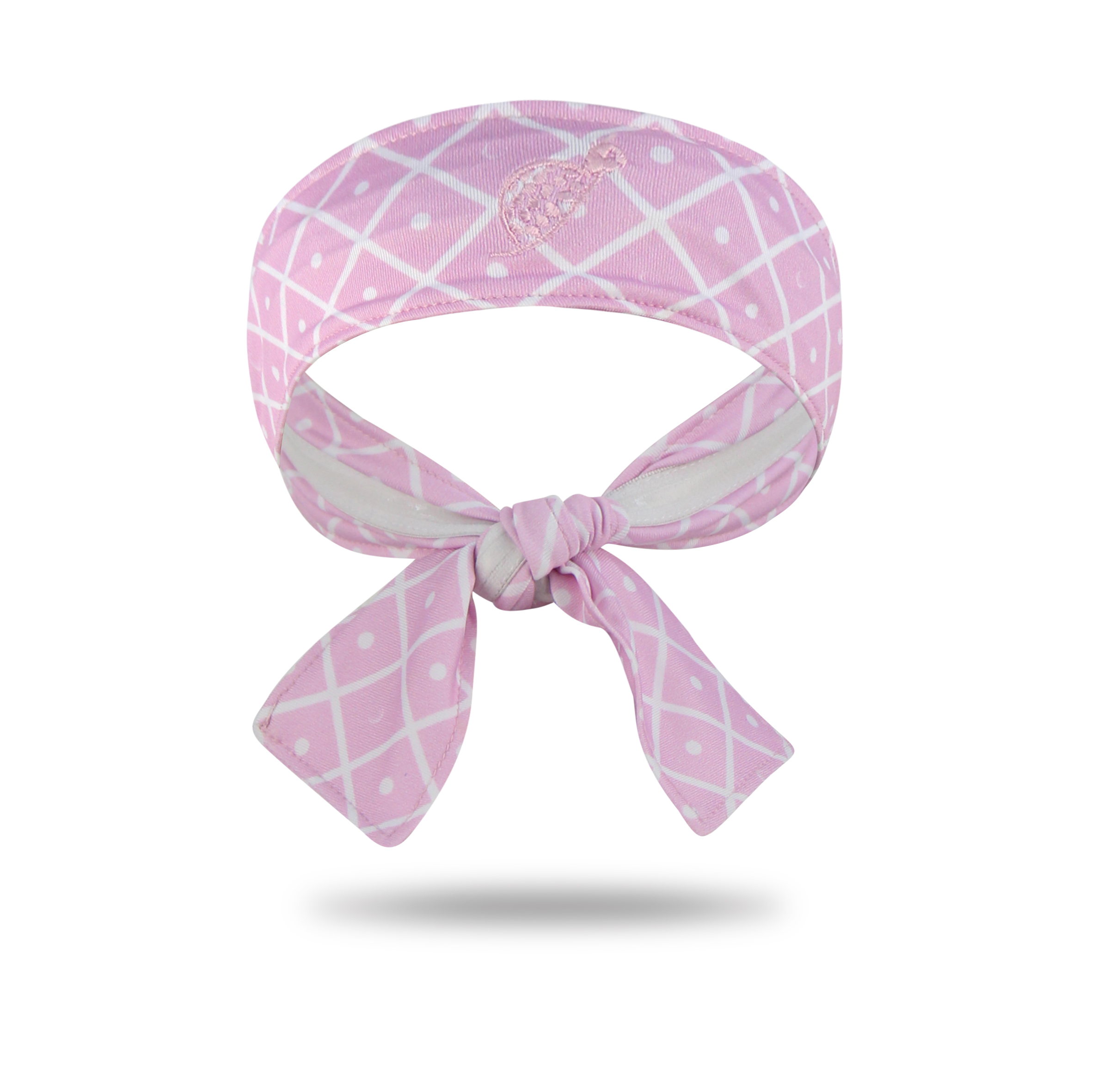 Tie Headband Pink Diamond On The Green