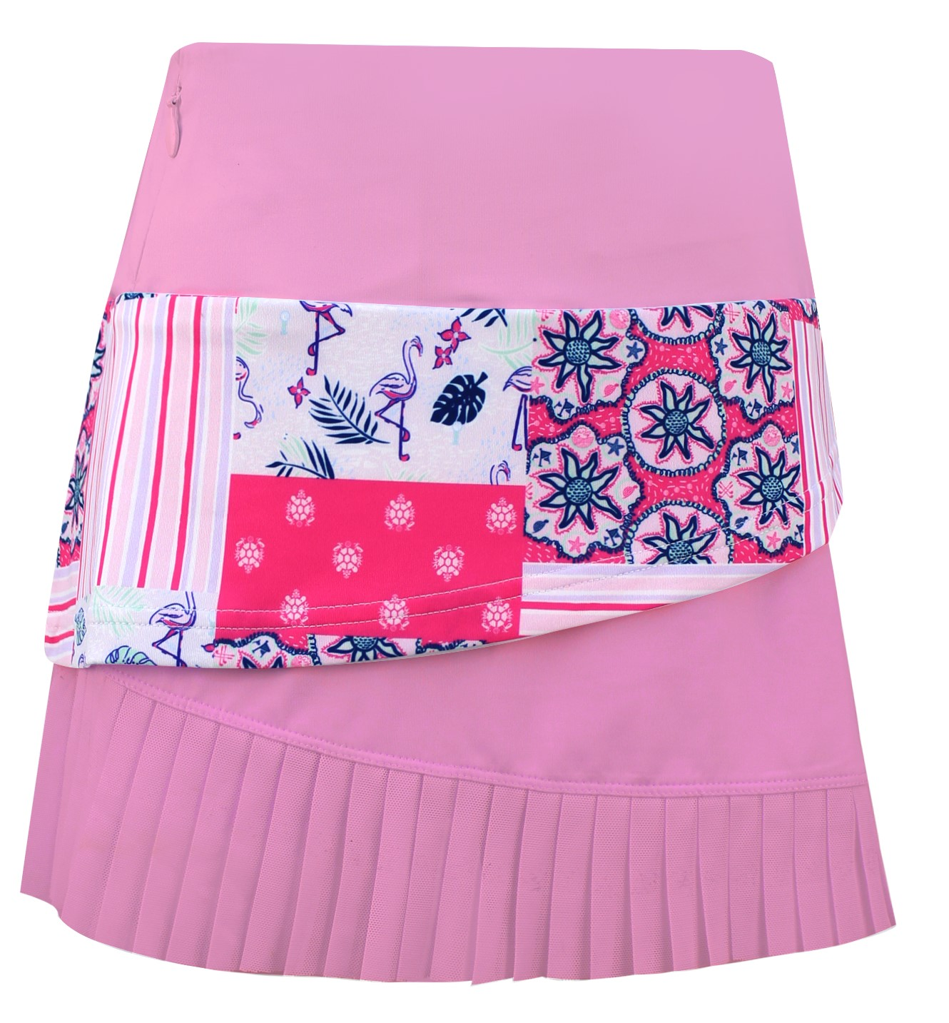 Emerson Tiered  Girls Golf & Tennis  Skort In Pink/Mad About Turtles Print