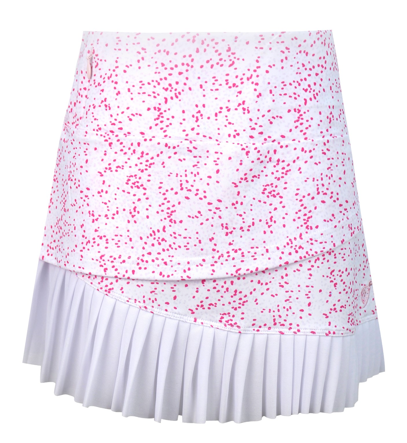 Emerson Tiered  Girls Golf & Tennis Skort In Pink Spot The Hole Print