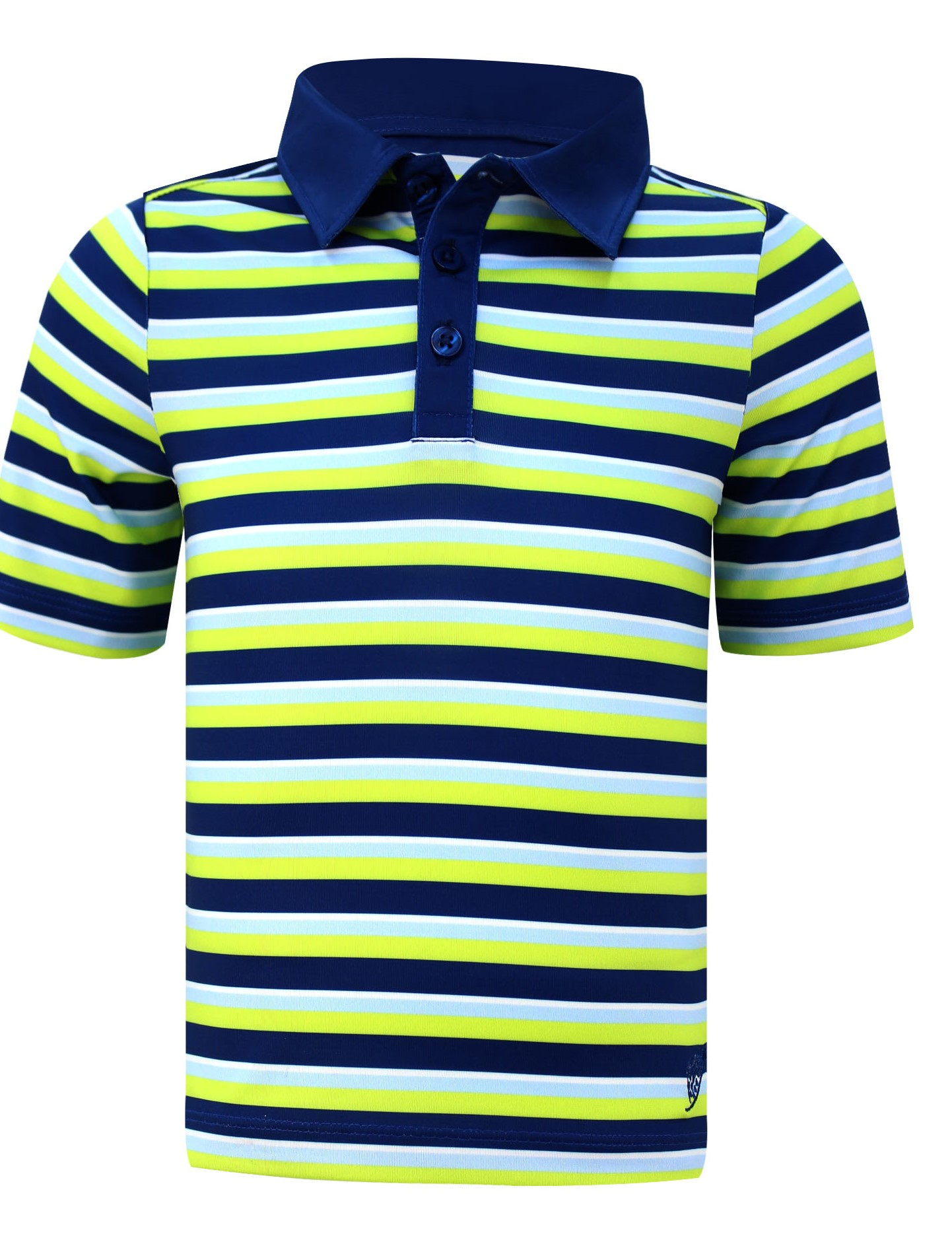 Infant/Toddler Polo Shirt  In Navy & Lime Stripe