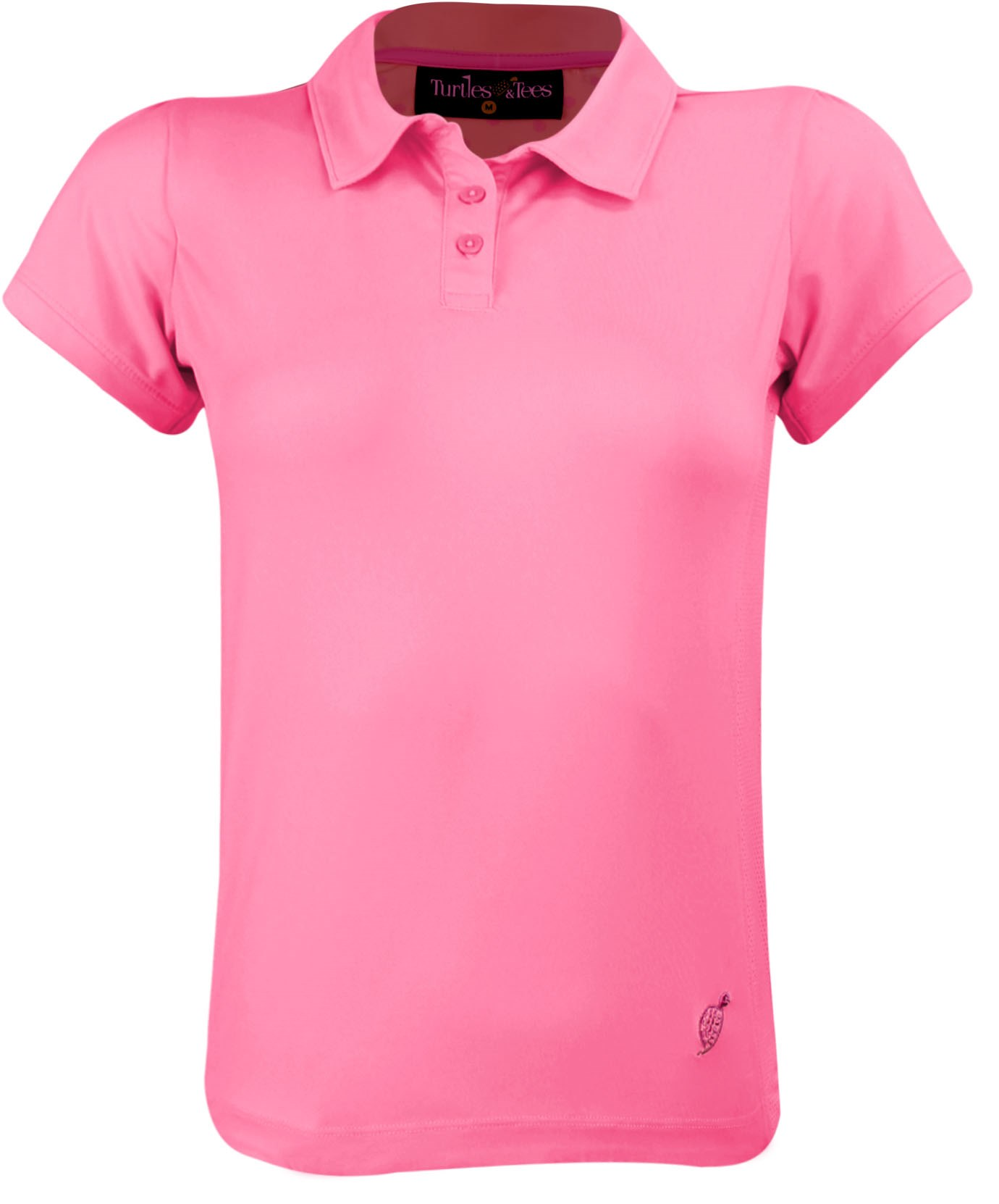 Girl's Cap Sleeve Polo Shirt Pink/Hot Dotty