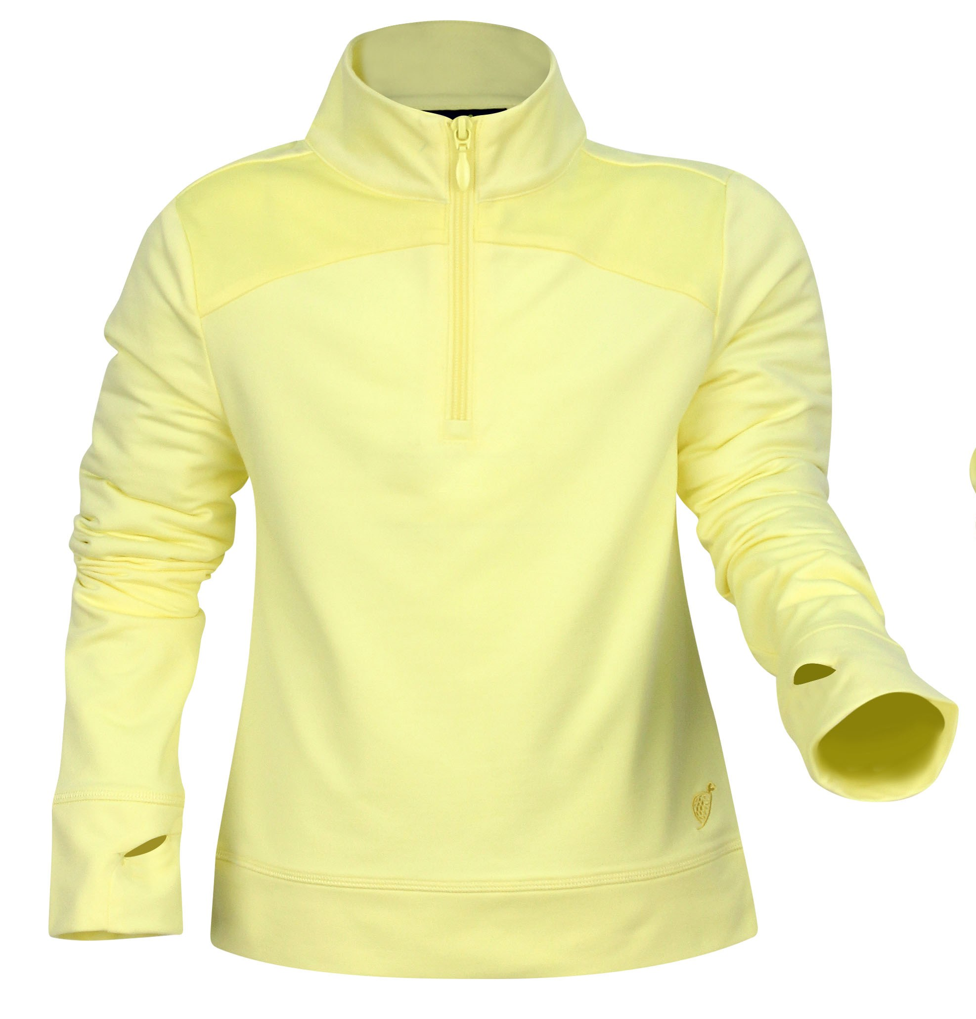 Alyssa 1/4 zip Pullover-Yellow