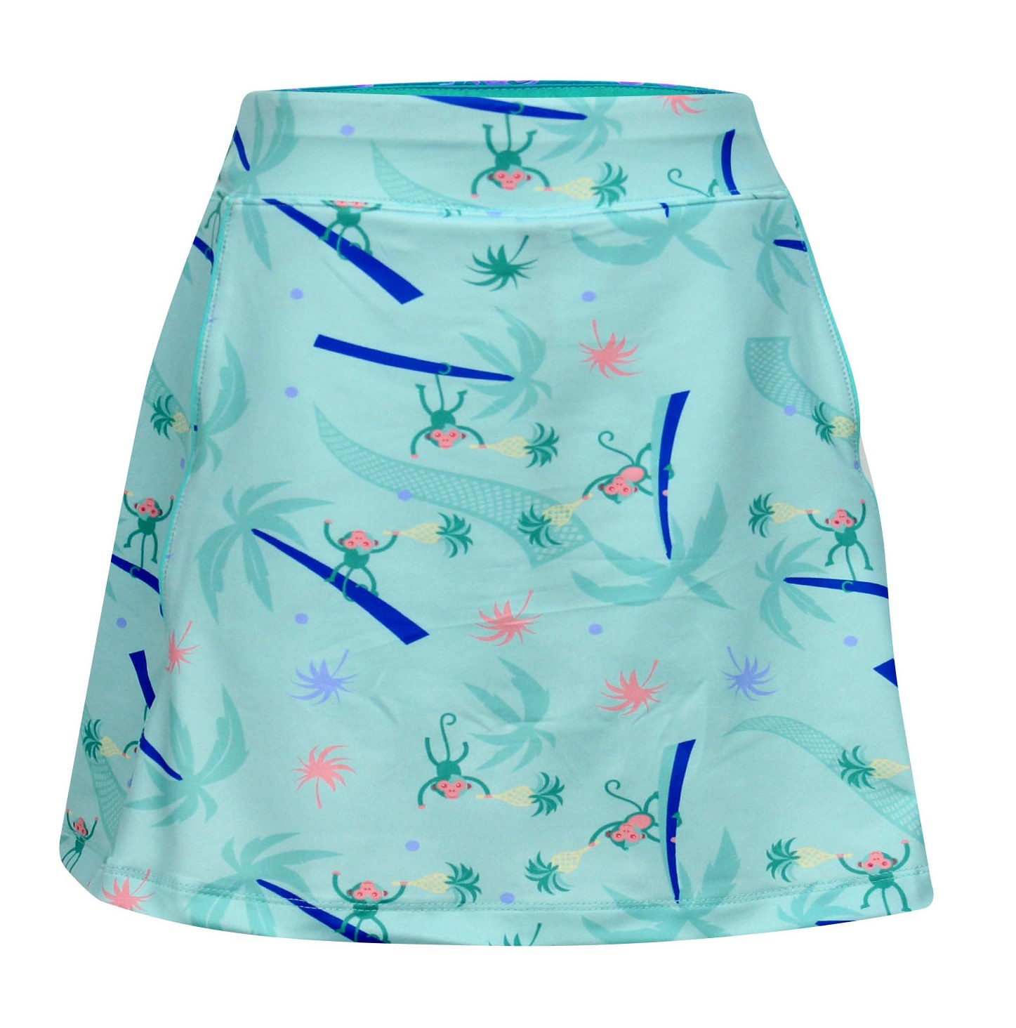 Tara Pull On  Skort in Monkey Love Print