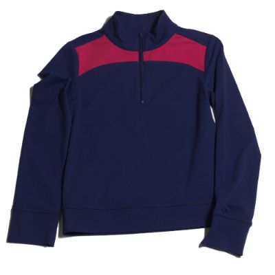 Alyssa 1/4 zip Pullover Navy/Berry Accent