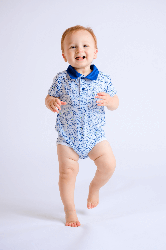Peyton Infant & Toddler Onesie In Blue Spot The Hole Print