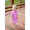 Avery Girl's Short Sleeve Infant & Toddler  Golf and Tennis Dress in Pink Hot Dotty Print
