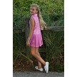 Adriene Girl's Golf and Tennis Dress in Pink JamminonPar Print